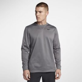 Nike Therma Top Crew Core gunsmoke Panské