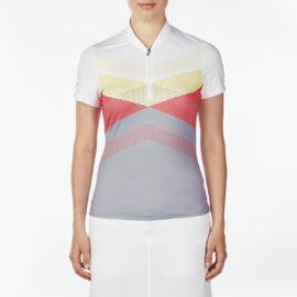 Nivo Alicia Ladies Mock light grey Damské trička na golf