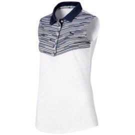 Puma Chevron Sleeveless Women Polo sweet lavender Damské trička na golf