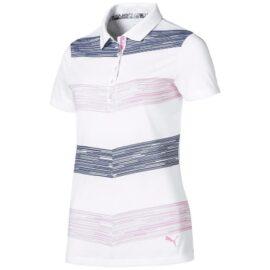 Puma Race Day Women Polo pale pink Damské trička na golf