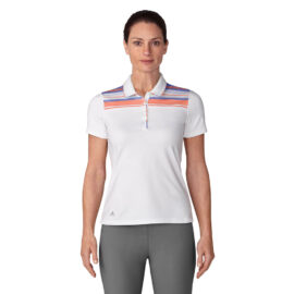 Adidas Ultimate 365 Stripe Polo white/chalk coral Damské trička na golf
