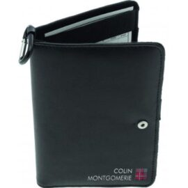 Colin Montgomerie Leather Golf Organiser dárková sada Desky na scorekartu
