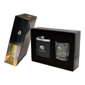 ST ANDREWS WHISKY TUMBLER + HIPFLASK SET St. Andrew's Collection