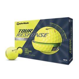 Taylor Made Tour Response yellow 12-pack golfové míčky Nové míčky