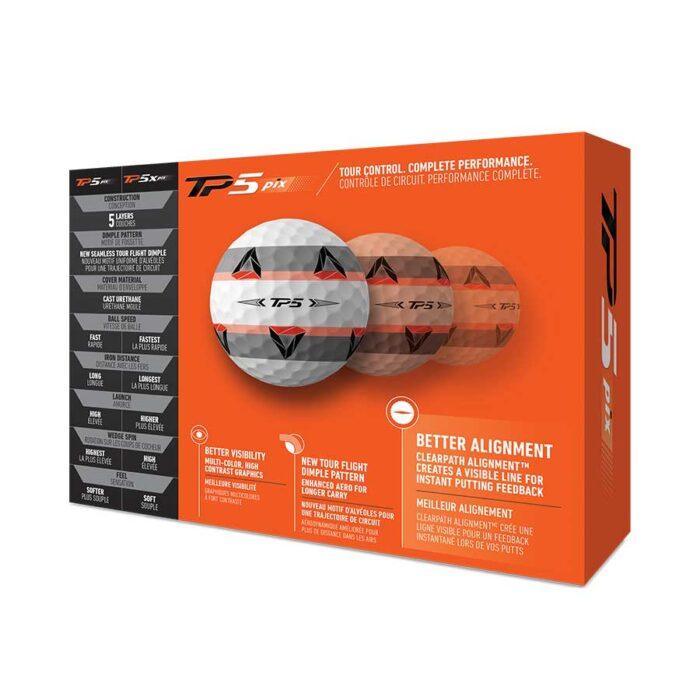 Taylor Made TP5 pix 12-pack golfové míčky Nové míčky