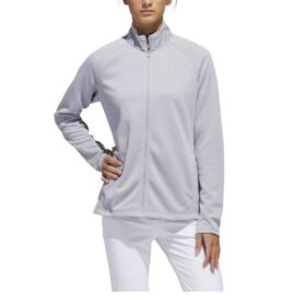 Dámská golfová bunda Adidas Textured Layer Ladies grey Oblečení