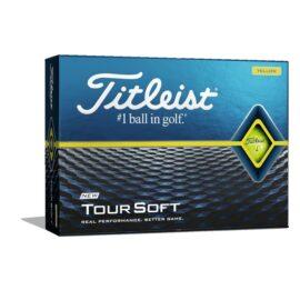 Titleist Tour Soft yellow 12-pack golfové míčky Akce