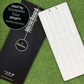FatPlate MirrorBoard tréninkové golfové zrcadlo Domácí golfové tréninkové studio