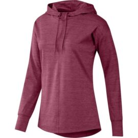 Dámská golfová bunda Adidas Essentials Heathered Hoodie Ladies red Damské