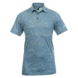 Adidas Ultimate 365 Camo Polo blue Panské trička na golf