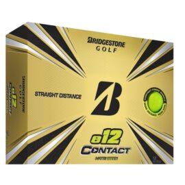 Bridgestone E12 Contact 12-pack barevné golfové míčky Nové míčky