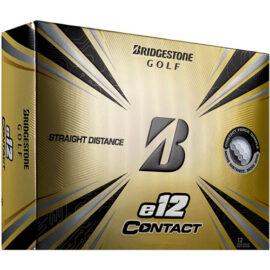 Bridgestone E12 Contact white 12-pack golfové míčky Nové míčky