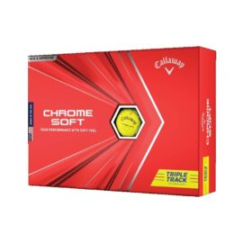 Callaway Chrome Soft Triple Track yellow 12pack golfové míčky Nové míčky