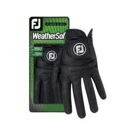 FootJoy WeatherSof Ladies black dámská golfová rukavice Klasické dámské