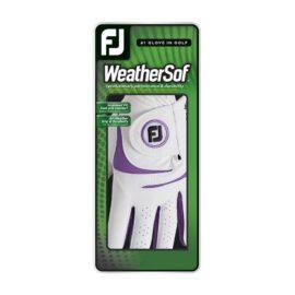 FootJoy WeatherSof Ladies white dámská golfová rukavice Klasické dámské