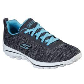 Skechers Go Golf Walk Sport Ladies black/blue dámské golfové boty Dámské boty na golf