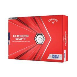 Callaway Chrome Soft Triple Track white 12pack golfové míčky Nové míčky