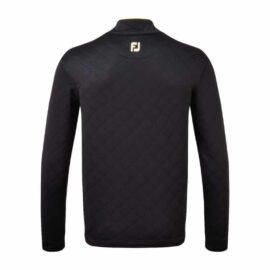 FootJoy Diamond Quilted Chill Out Pullover black golfová mikina Panské